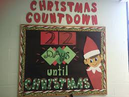 chippy the elf on the shelf christmas countdown bulletin board