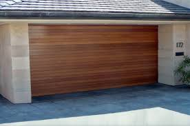 fancy design of modern garage doors in white paint colors with air perfect design of wooden modern garage doors in horizontal shape design in brown