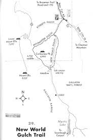 Montana Hunting Maps by New World Gulch Trail Outside Bozeman