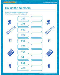 round the numbers u2013 free math worksheet for 7th grade u2013 math blaster