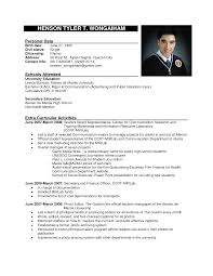 Resume Job Format by Sample Of Resume Format Resume Format