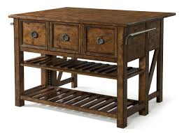 Broyhill Kitchen Island by Klaussner Southern Pines 3 Drawer Loblolly Kitchen Island In Pine