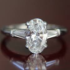 vintage oval engagement rings vintage co 1 95ct oval f vvs1 platinum