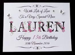 personalised girls name birthday card daughter granddaughter niece
