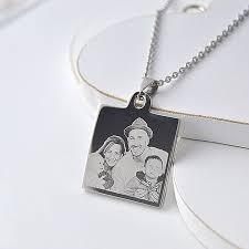 Engraved Pendant Personalised Pendant As Special Gift Engraved Memories