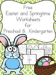 free easter and springtime worksheets for kindergarten make