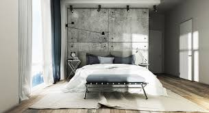 industrial home interior design concrete accent wall interior design ideas