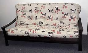 Memory Foam Futon Mattress Amazon Com Memory Foam Futon Mattress Asian Print Upholstery