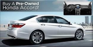 buy a pre owned honda accord