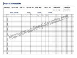 project timetable template