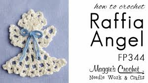 crochet pattern rt hand free how to raffia angel ornament