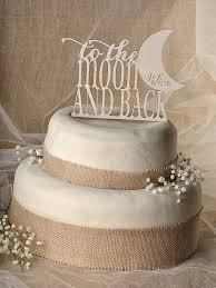 moon cake topper rustic cake topper wood cake topper to the moon and back cake