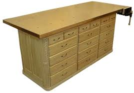 Free Wood Workbench Designs by This Is Way More Table Than I Need But Love All The Drawers