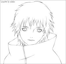 akatsuki coloring pages naruto sasori coloring pages sketch coloring page