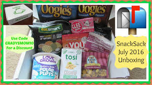 Snacks Delivered Snacksack July 2016 Unboxing Healthy Guilt Free Snacks Delivered