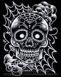 sugar skulls home decor sugar skull tattoo art signed print black and white day of