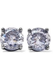 cubic zirconia earrings bottega veneta oxidized silver cubic zirconia earrings net a