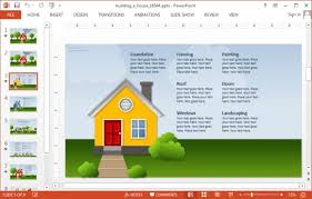 powerpoint house template animated building a house powerpoint