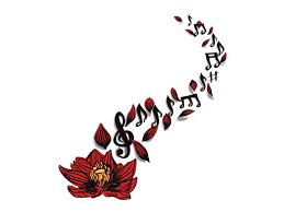 guitar and music notes tattoo design photo 3 photo pictures