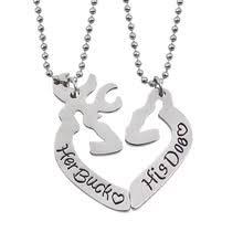 Buck And Doe Couples Necklace Popular Doe Heart Buy Cheap Doe Heart Lots From China Doe Heart