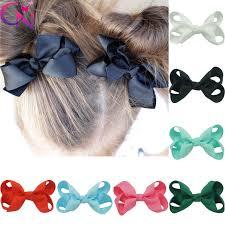 bows for 50 pcs lot 3 plain ribbon hair bows for kids fashion