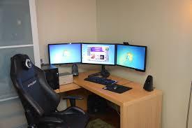 Desk For Dual Monitor Setup My Clean Multi Monitor Setup Battlestations