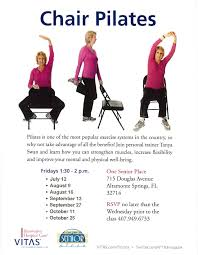 Pilates Chair Exercises Chair Pilates One Senior Place