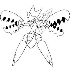 coloring mega evolved pokemon mega scizor 212 212