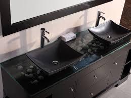 Double Vanity Sink Designs Bathroom Glass Top Bathroom Vanity Sink Nice Home Design Top And