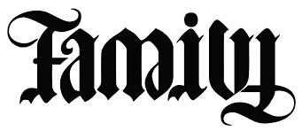 family forever ambigram tatting and ambigram