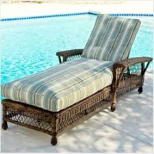 Wicker Chaise Lounge Double Single Resin Wicker Chaise Lounges