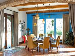 blue accent wall dining room ideas