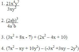 exponents and polynomials worksheet