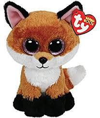 amazon ty beanie boos 6 slick brown fox plush toys u0026 games