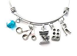 colored charm bracelet images Baking baker themed personalized bangle bracelet jpg