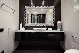 Chrome Bathroom Mirror Black And White Bathroom Design Ideas Using Black White Bathroom