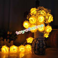 bedroom creative flower string lights for bedroom decor modern