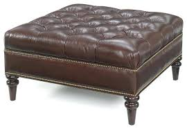 Leather Top Ottoman Lovely Ottoman Leather Taptotrip Me