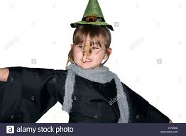 5 year old child dressed in a witches costume