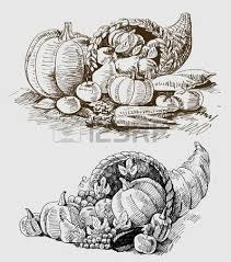 thanksgiving or harvest cornucopia royalty free cliparts vectors