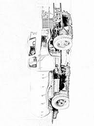 old farm truck coloring page