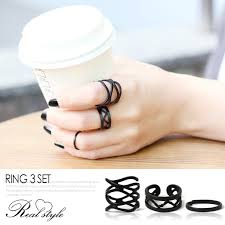 black fashion rings images Outletruckruck rakuten global market watermark design ring jpg