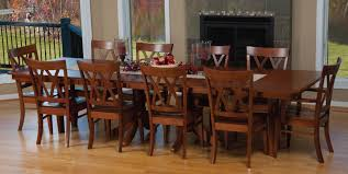 Amish Dining Tables Classic Dining Room Design With 10 Person Amish Dining Room Tables
