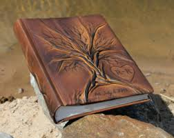 leather photo albums engraved leather photo album 13x9 with tree for 300 photos anniversary