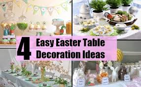 table decorations for easter easy easter table decoration ideas simple ways of decorating the