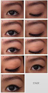 liquid eyeliner tutorial asian winged eyeliner tutorial for asians double eyelids diagonalll