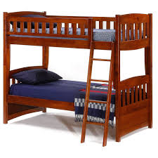 night and day cinnamon twin over twin bunk bed cinnamon bunk bed in cherry