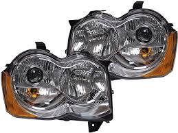 jeep black headlights 2005 2007 jeep grand cherokee hid retrofit headlights hid