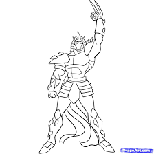 ninja turtles coloring pages draw shredder teenage