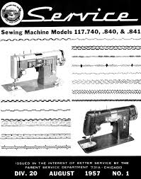 kenmore 117 740 840 841 sewing machine service manual contains